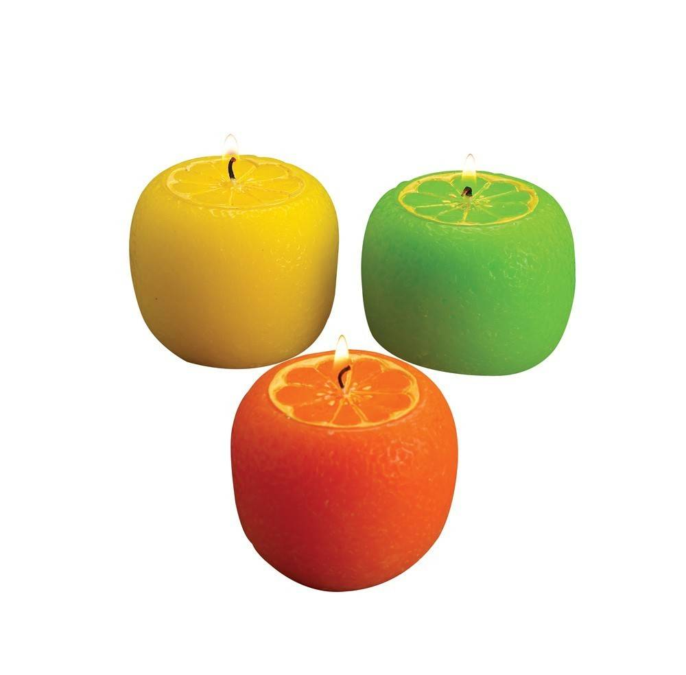 C1564 ASST CITRUS SCENTED CANDLES