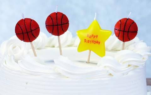 C1609B BASKETBALL THEME B'DAY CANDLES