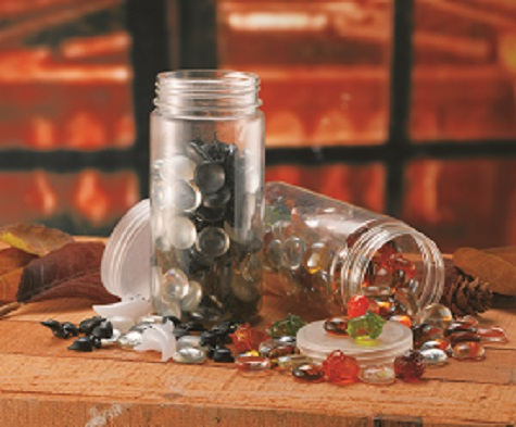 A105AMC ASST FALL GLASS GEMS & ACORNS