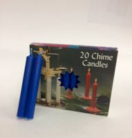 C1123DB/10 DK BLUE CHIME CANDLE-10 BX/20