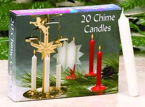 C1123WT WHITE CHIME CANDLES- BX/20