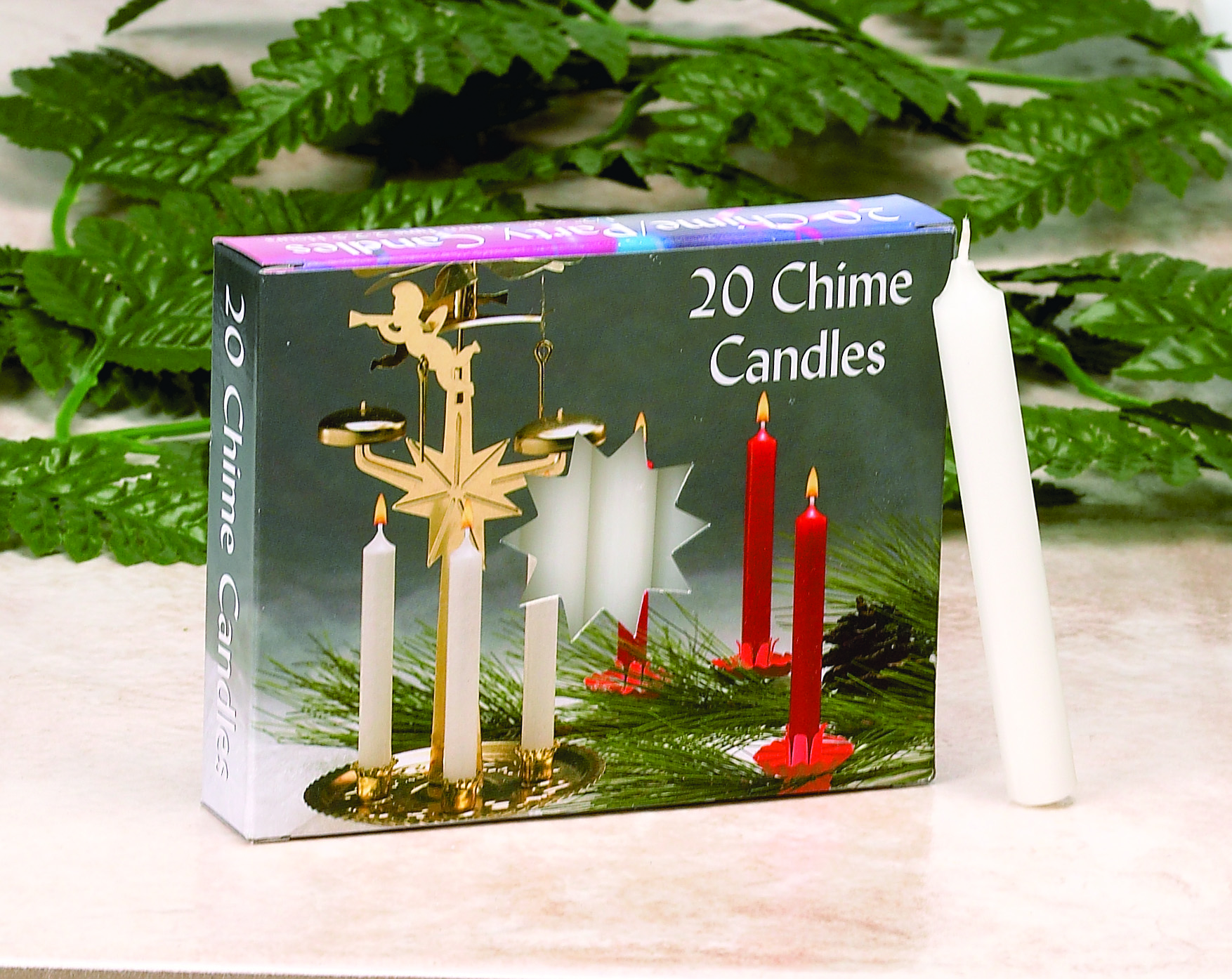 C1123WT/10 WHITE CHIME CANDLES- 10 BX/20