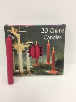 C1123CDR DUSTY ROSE CHIME CANDLE-PACK/4