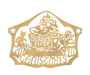 D2018B  Baby's First Ornament  PACK/1