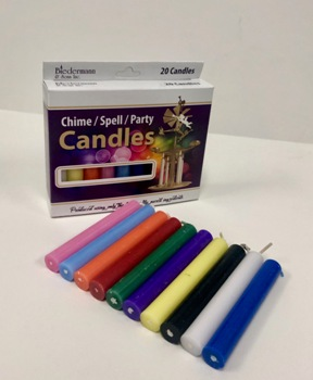 C1123A/10 ASST. CHIME CANDLES- 10 BXS/20