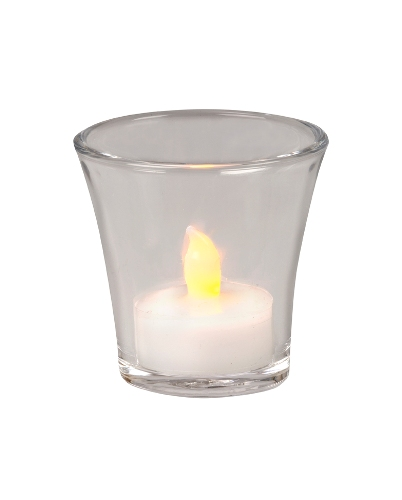 HP8CL FLARED CLEAR GLASS VOTIVE HLDR