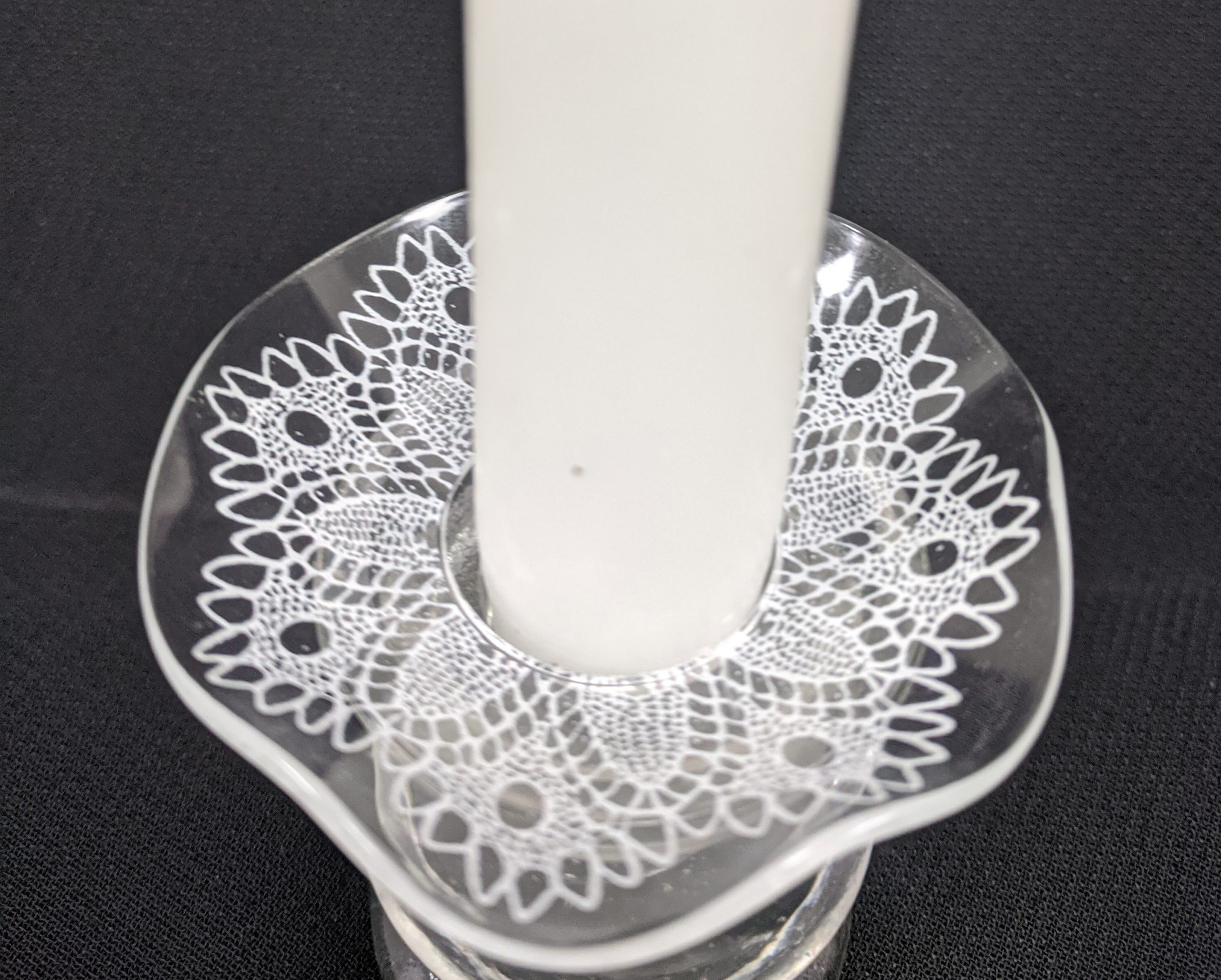 M1921PR/2 Glass bobeche w/Lace Fluted 4